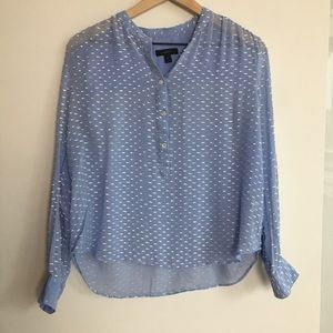 J.crew Blue Blouse